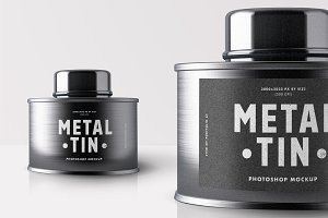 Metal Tin Mock-up