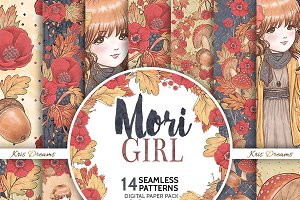 Mori Girl Digital Paper