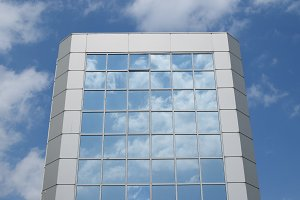 Blue Sky Glass Building