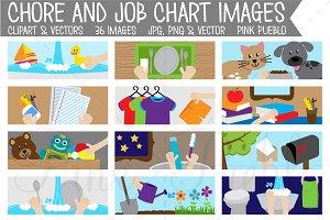 Chore Chart Clipart, Printable