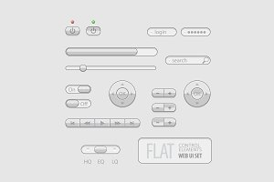 Flat Web UI Elements