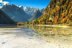 Autumn landscape with Lake Landro