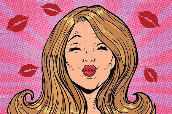 Beautiful Woman Love Lips Kiss