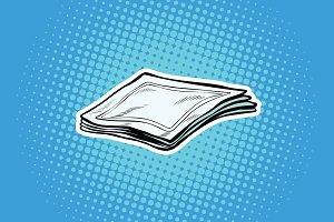 Paper napkins or handkerchiefs