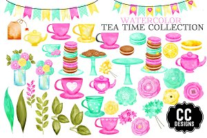 Watercolor Tea Time Collection