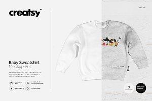Baby Sweatshirt Mockup Set