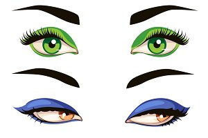 Color female eye set