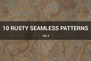 Rusty Metal Seamless Patterns (v 4)