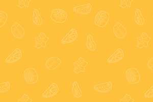 Fruit outline isometric pattern