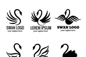 Swan logo set