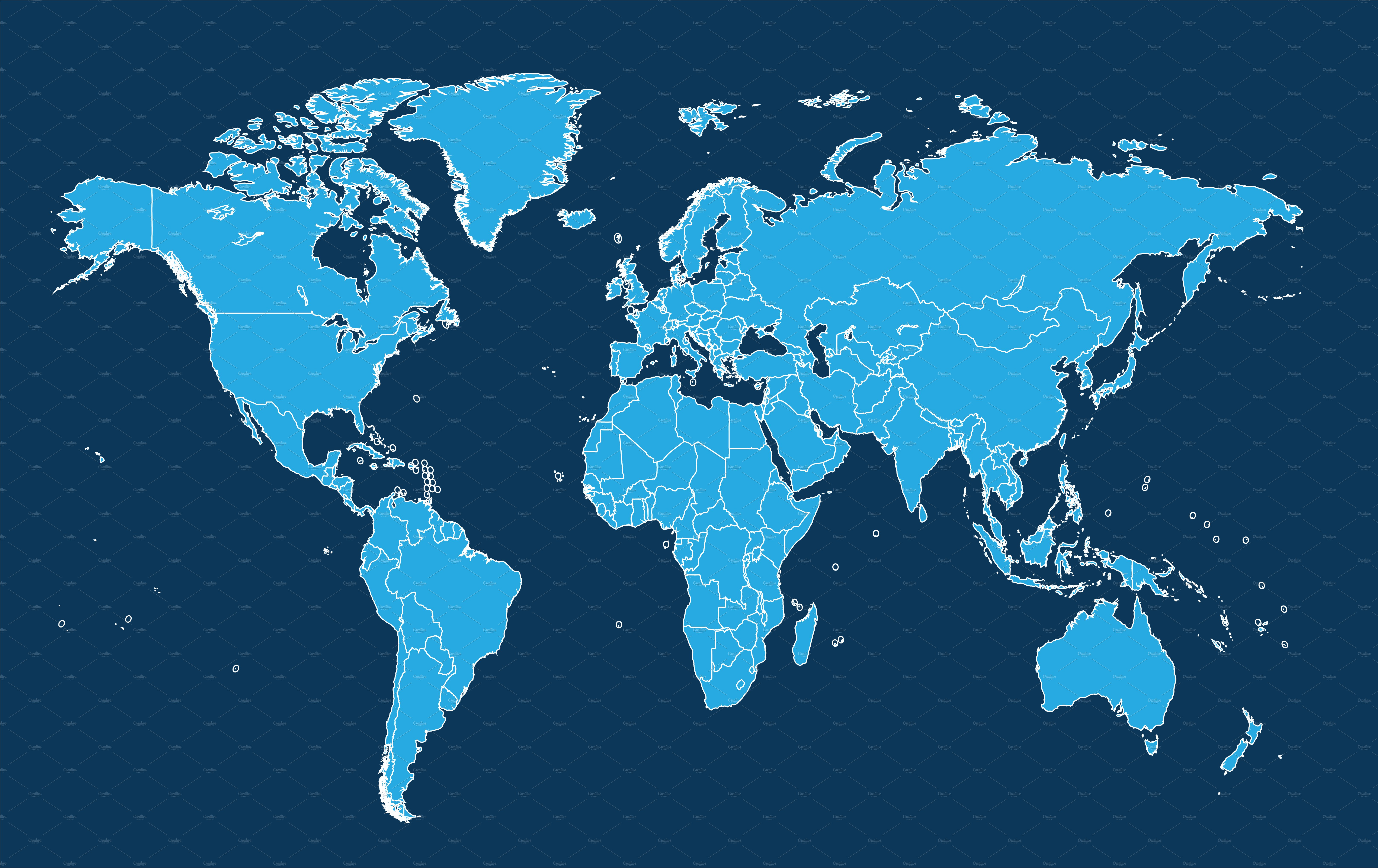 World map with borders blue vector graphics creative market gumiabroncs Image collections
