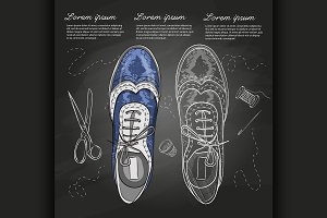Fashion vector sketch womens shoes.