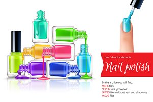 Nail Polish Realistic Set