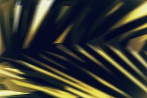 Horizontal vivid vibrant green palm leaf abstract illustration b