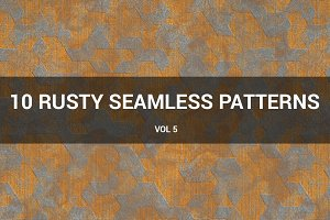 Rusty Metal Seamless Patterns (v 5)