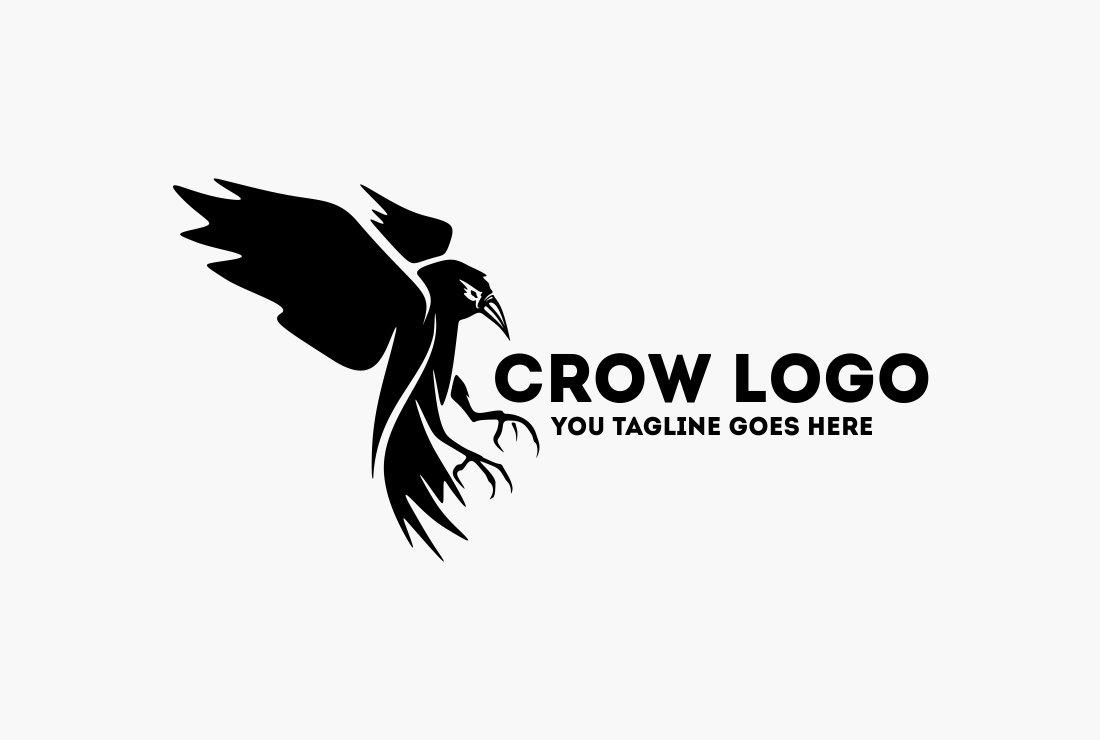 Crow logo logo templates creative market sciox Choice Image