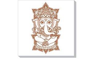 Lord Ganesh. Hindu elephant