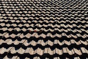 Vintage roof tiling background