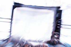Horizontal cyberpunk broken vintage tv abstraction background
