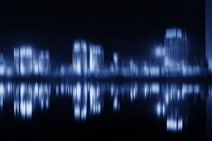 Blueish night city abstraction