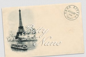 France, Paris, Eiffel tower, 1900