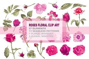 Roses Floral Clip Art