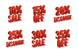 Promotional discount signs