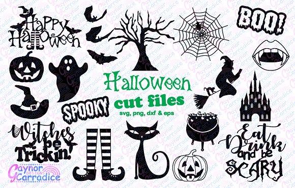 Halloween Svg Silhouette Set