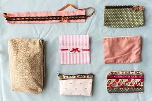 Collection vintage fabric bag