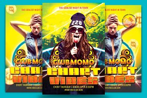 Club Momo Chart Vibes Flyer Template