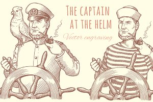 Set The captain at the helm