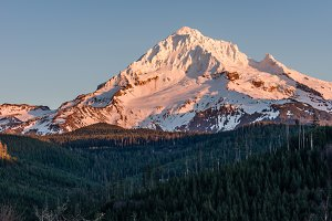 Mount Hood with snow cover