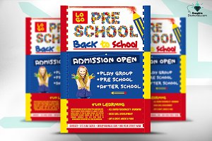 PreSchool Back To School Flyer