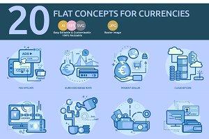 Flat Concepts for Currencies