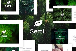 Semi - Creative PowerPoint Template