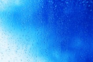 Horizontal blue 3d blocks background