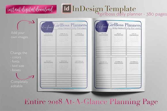 Daily Planner | InDesign Template ~ Stationery Templates ~ Creative ...