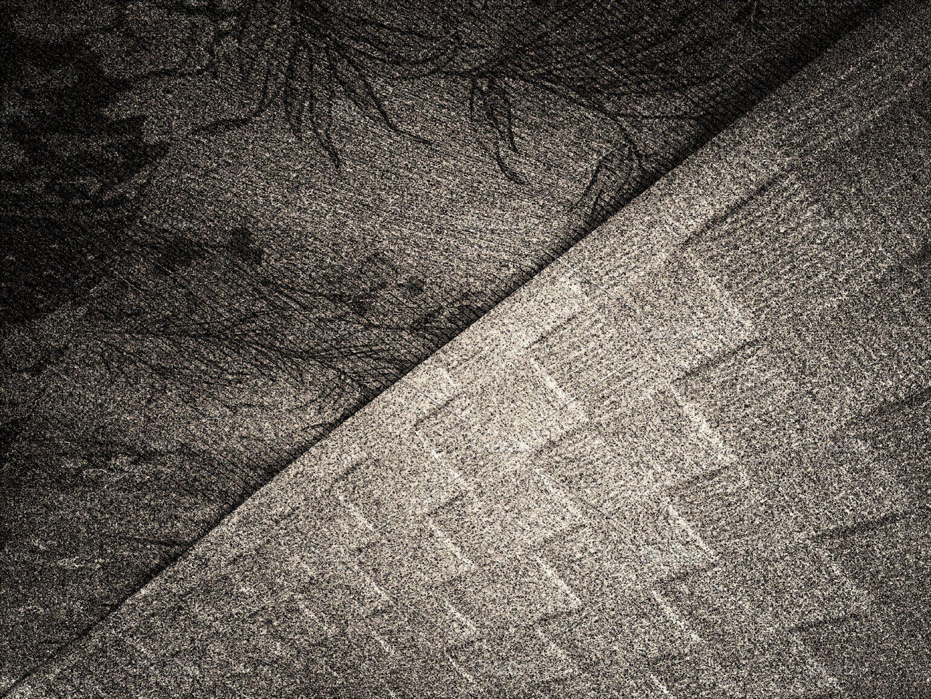 Diagonal black and white noise texture background