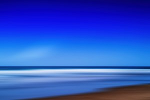 Horizontal vivid vibrant paradise beach ocean motion abstraction
