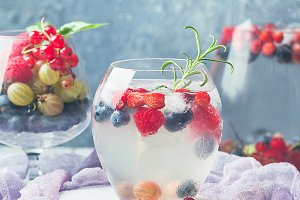 Detox fruit infused flavored water.
