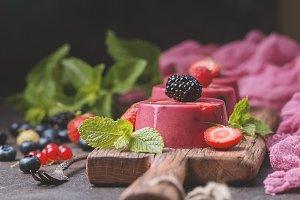 Summer dessert with berries