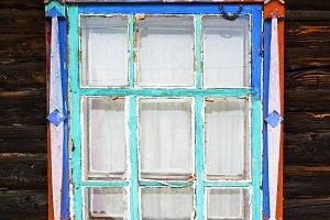 Russian window platband backdrop