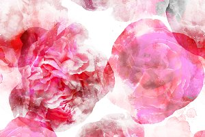 roses and peonies seamless | JPEG