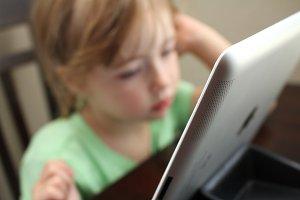 Little Kid on iPad