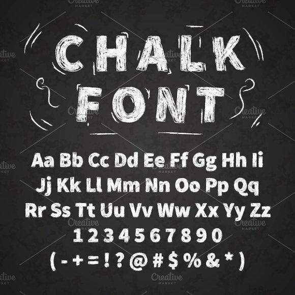White Chalk Font On Chalkboard