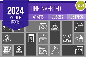 2024 Vector Line Inverted Icons (V4)