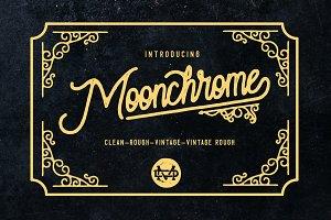 Moonchrome typeface + Bonus