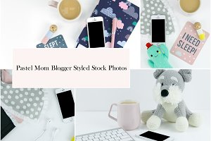 Pastel Mom Blogger Stock Photos