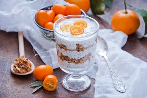 Chia Seed Pudding with kumquats