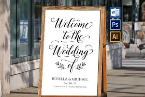 wedding welcome sign WPC203